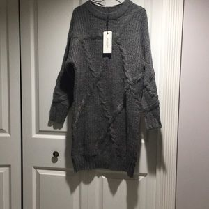 NWT Selected Femme O neck knit dress XS
